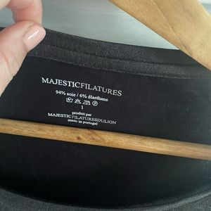 Majestic Paris metallic long sleeve